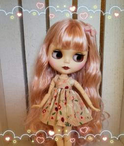 Nude Factory Type Neo Blythe Doll Pink Mix Hair - Jointed