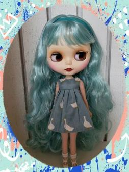 Nude Factory Type Neo Blythe Doll Mint Blue  Hair