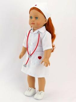 Nurse Dress & Stethescope  by American Fashion World for 18'