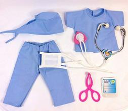 NURSE, SCRUBS, DOCTOR fits American Girl Doll, 18 Inch Doll