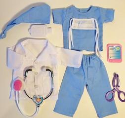 nurse scrubs doctor fits american girl doll