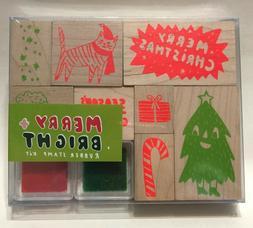 NWT Yellow Owl Workshop Festive Rubber Stamp Kit PopSugar NE