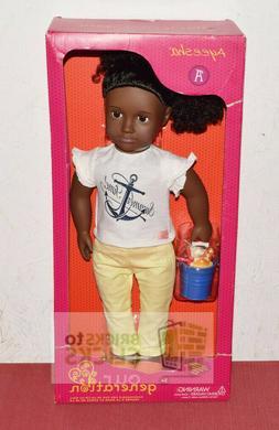 """Battat Our Generation 18"""" Doll Ayeesha Beach African America"""
