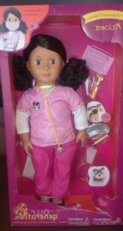 "Our Generation 18"" PALOMA Doll PET VET Veterinarian Deluxe S"