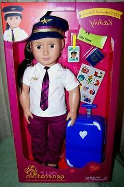 "Our Generation Kaihily 18"" Pilot Doll OG Professional Collec"