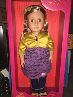 "Our Generation Olivia 18"" Doll With Blonde Hair & Brown Ey"