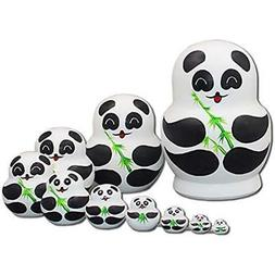 Panda Nesting Dolls - 10 Pieces Matryoshka Hollow To Fit Ins
