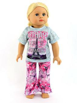 Paris Pajamas  by American Fashion World for 18'' Dolls