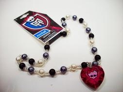 Monster High Pearl Necklace with Heart Charm - Assorted Styl