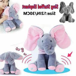 Peek-a-Boo Animated Talking and Singing Plush Elephant Stuff