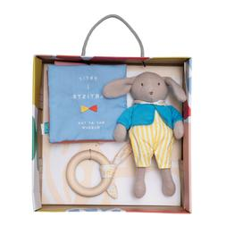 Manhattan Toy Petit Artiste Bunny Doll, Soft Book, and Woode