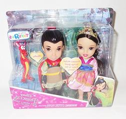 Disney Princess Petite Mulan and Shang Toddler Doll Gift Set