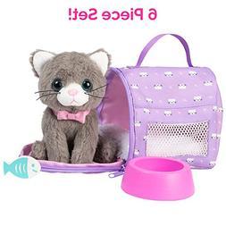 "Adora Amazing Pets ""Misty the Grey Kitty"" – 18"" Doll"