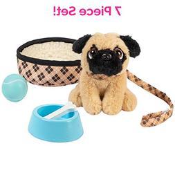"Adora Amazing Pets ""Preston the Brown Pug"" – 18"" Dol"