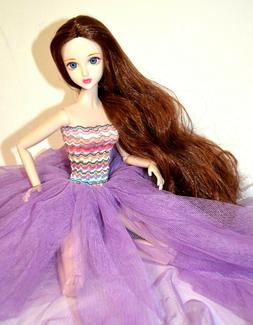 "Eledoll Philomena BJD 12"" Poseable Deluxe Fashion Doll in Pu"