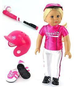 pink baseball uniform
