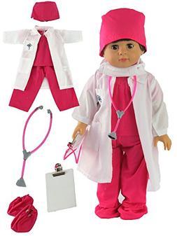 pink doctor nurse set doll