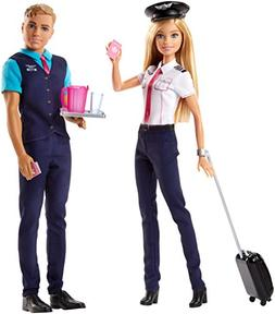 Barbie Pink Passport Ken and Barbie Pilot Doll and Accessory