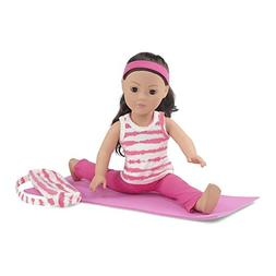 18 Inch Doll Clothes | Pink and White Gymnastics / Yoga Exer