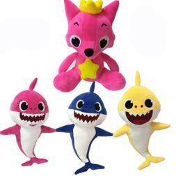 PinkFong Fox Sharks Cartoon Dolls Children Baby Animal Soft