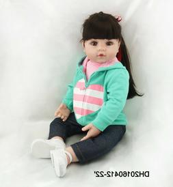22 Inch Realistic Baby Girl Real Lifelike Reborn Baby Doll T