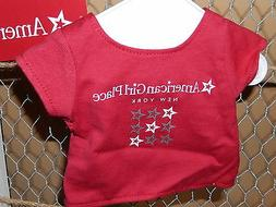 American Girl Place New York Classic Red Tee T-Shirt w/Hange
