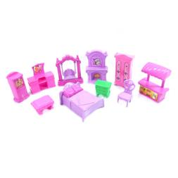 Plastic Furniture Doll Family Christmas Xmas Toy Set
