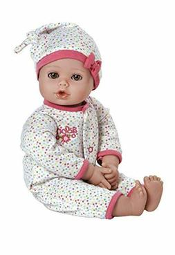 """Adora PlayTime Baby Dot Vinyl 13"""" Girl Weighted Washable Pla"""