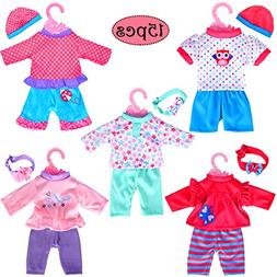 """5-Pack Playtime Outfits for 11""""-12""""-13"""" Dolls  Like 11-inch"""