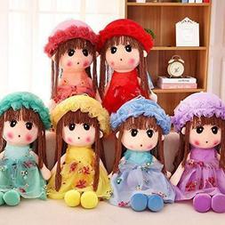 Plush Dolls Cute Soft Stuffed Toys Pillow Girl Doll Toys for