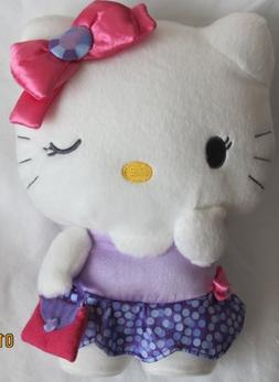 "HELLO KITTY Plush FIGURE 10-1/2"" Tall w PURSE"