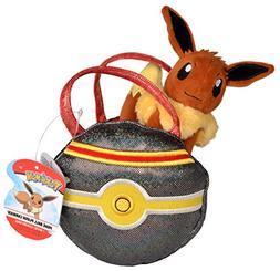 "Pokemon 95412 Pokeball Carrier PurseWith Cute 5"" Eevee Plush"