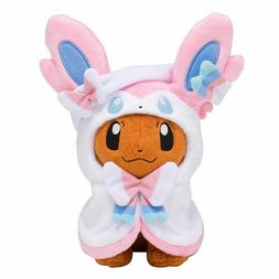 Pokemon Center Eevee Poncho Sylveon Nymphia Plush Doll Soft