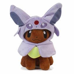 Pokemon Eevee Poncho Espeon Cute Plush Doll Stuffed Animal T