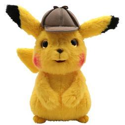 Pokemon Soft Detective Pikachu Plush Toy Stuffed Doll Kids X