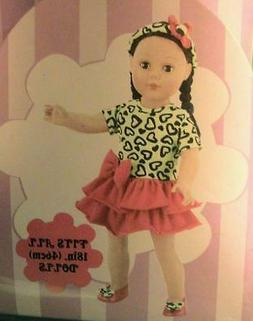 Pretty Dress with Shoes and Accesories for 18 inch Dolls New