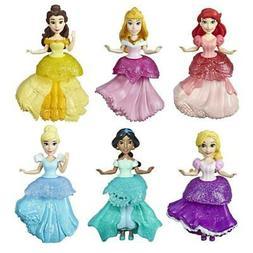 Disney Princess Dolls, Set of 6 with 6 Royal Clips Fashions,