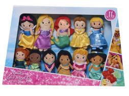 "Disney Princess Plush Stylized Super Pack 11 Dolls New 7"""