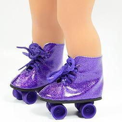 purple glitter roller skates