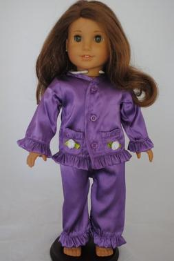 purple satin pajamas