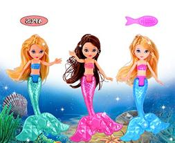ebuddy 3pc Random Color Mermaid Doll with 1pc Comb Toy for G