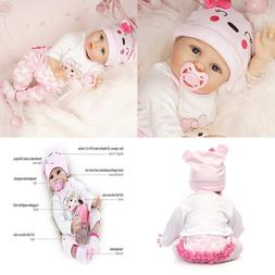 Real Looking Reborn Baby Dolls Girl Silicone Vinyl PINK Outf