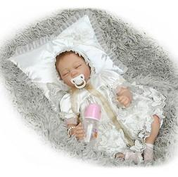 """Realistic Baby Dolls Silicone Real Looking 22"""" Reborns for S"""