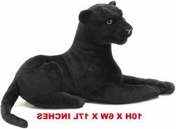 Realistic Black Panther Pet Plush, Kids And Children Stuffed