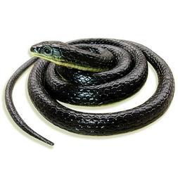 Realistic Fake Rubber Toy Dolls Snake Black Fake Snakes Long