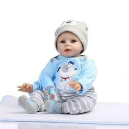 "22"" Cute Lifelike Real Life Newborn Reborn Baby Dolls Soft S"