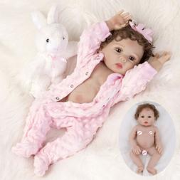 Realistic Reborn Baby Dolls Full Body Vinyl Silicone Girl Do