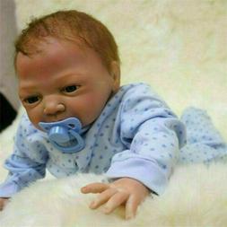 "Realistic Reborn Newborn Boy Doll 22"" Handmade Vinyl Silicon"