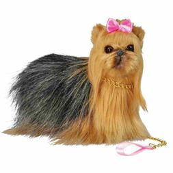 Realistic Yorkie Dog,Collar and Leash For 18 Inch American G