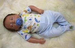 Reborn Baby Boy Doll 18'' Lifelike Newborn Soft Vinyl Silico